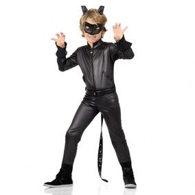Fantasia Cat Noir Infantil Catnoir Roupa Longa Luxo P M G