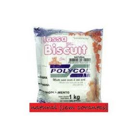 Massa De Biscuit Poycol Natural 1kg- Kit Com 12 Pacotes