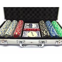 Fichero Poker Aluminio 300 Fichas+naipes+dados