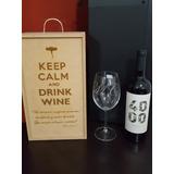 Caja Para Vino Copon De Cristal *regalo Fin De Año