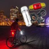 Kit Luces Para Bicicleta 5 Led Ultra Potentes 2000 Linterna