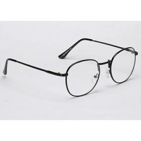 Óculos Armação Metálica Oval Perfeito - Óculos Preto no Mercado ... 37994a72a0