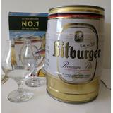Barril De Cerveza Bitburger De 5 Litros + 2 Copas Importado