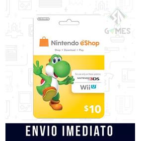Cartão Nintendo Usa 3ds Wii U Eshop Cash Card $10 Dólares -