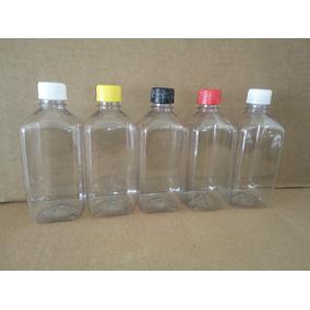 100 Pzs Botella Pet Cuadrada Lisa De 500 Ml, C/tapa Generica
