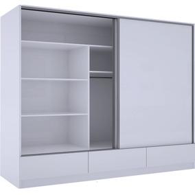 Placard Ropero Puertas Corredizas 1.81 Aluminio Guía Blanco