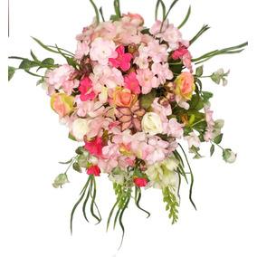 Ajuar De Novia Ramo De Novia Marca Oui Original Flores Rosa