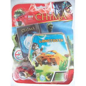 Lego Chima Moto E Boneco Longtooth Com Cards