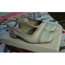 Zapatos Sandalias Tanguis De Cuero Talla 35 Nuevas Con Caja