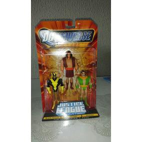 Pack Liga Da Justiça Mattel(chefe Apache, Samurai E Vulcão N