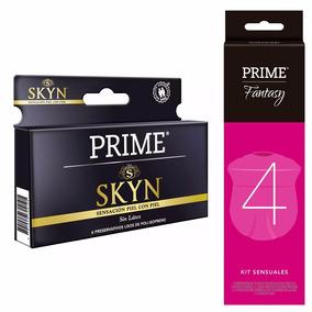 Prime Combo Preservativos Skyn X6 + Kit Fantasy 4 Masajeador