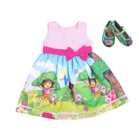 Vestido Dora Aventureira + Sapatilha