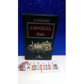 Livro Os Pensadores A República Platão ( Foto Real ) Platão