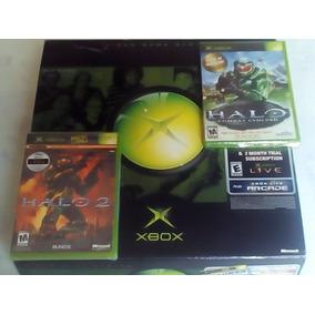 Xbox Clássico Americano Novo Bloqueado + Halo 1 + 2 Lacrados