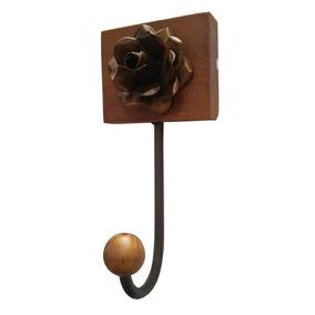 Cabide Decorativo Madeira Bolsa Roupa Quarto Verniz 1g Mini