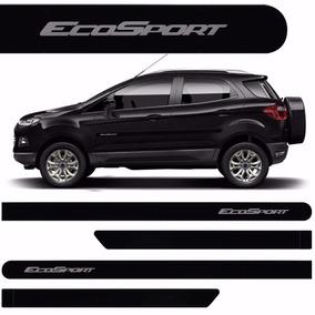 Friso Lateral Ford Ecosport 2013 A 2017 Preto Ebony C-juros