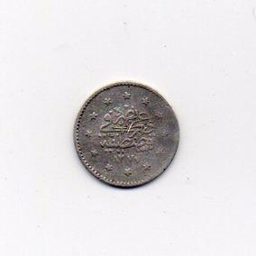 Turquía Imperio Otomano Moneda De Plata Kurush 1860