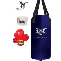 Everlast Costal Saco 25 Lbs Principiantes+guantes+vendas Nb