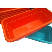 Pack X 3 Macetas Jardinera De 35 Cm En Plastico Reforzado