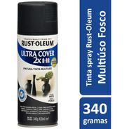 Spray Preto Fosco -plástico, Vidro, Aluminio,madeira E Metal