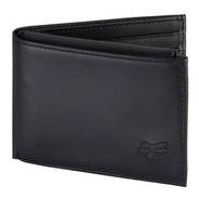 Billetera Leather Bifold Wallet Negro Atv Motocross Fox