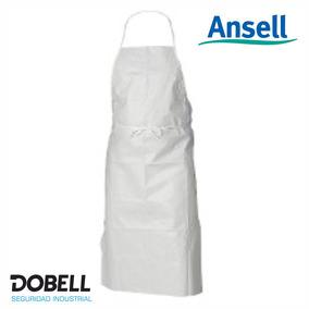 Delantal Vinilo Pvc Blanco Alphatech® 56-101 Ansell