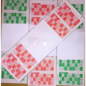 Cartones Bingo X 2016 X 10 Unidades