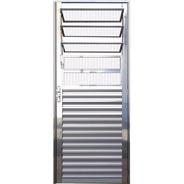 Porta Vitrô Basculante Alumínio Brilhante 2,10 X 0,80 Esq