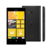 Nokia Lumia 720 Preto Câmera 6.7mp 8gb 1ghz Tela De 4,3