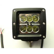 Faro Barra 6leds Cree 18w Par Spot Jeep Rzr Moto Can Am 4x4