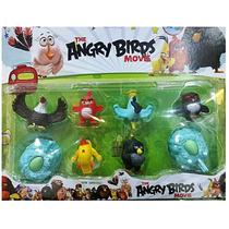 Angry Birds Cartelado Coleção 8 Bonecos Miniaturas 6cm