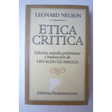Ética Crítica. Leonard Nelson.