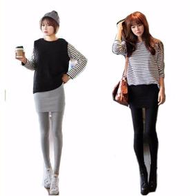 Moda Asiática Leggings Y Falda En 1 Pieza Talla U (s-m)