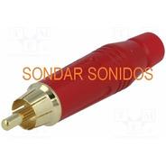Ficha Rca Macho Rojo Amphenol Acpr Red Switchcraft Neutrik