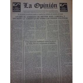 Diario La Opinion Antiguo 26 Mayo 1973 H J Campora Asumio Go