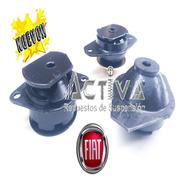 Kit Soporte Pata Motor Y Caja Fiat Uno Fire Reforzados