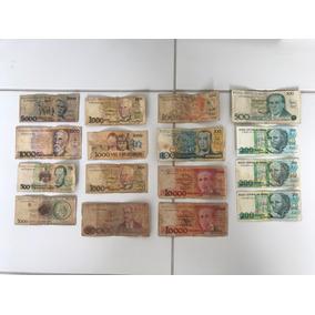 Cédulas De Dinheiro Antigo Lote Com 16 Unidades