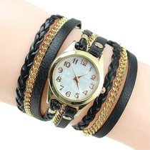 Relógio Feminino Dourado Bracelete, Pronta Entrega!