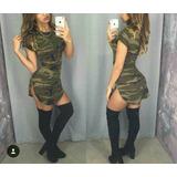 Vestido Corto Militar 78.900 Para Mujer