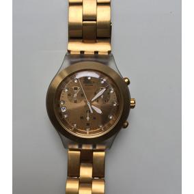 553aab8c04c Relógio Swatch Full Blooded Dourado Svck4032g Novo - Relógios De ...