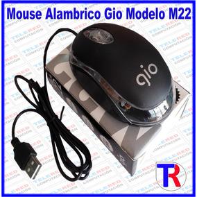 Mouse Alambrico Optico 3d Usb Gio Modelo M22