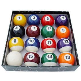 Jogo Bolas De Bilhar Snooker Sinuca 52mm 16 Peças Coloridas