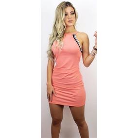 Vestido Canelado Médio Feminino