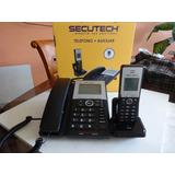 Telefono Fijo Mas Auxiliar Inalambrico Secutech.-