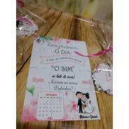 Convite Quebra Cabeças Casamento Rosa - 10 Unidades