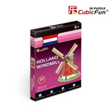 Quebra Cabeça 3d Puzzle Holland Windmill Brinquedo Hobbie