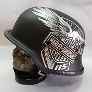 Capacete Alemão Moto Custom Harley Davidson Eletrica