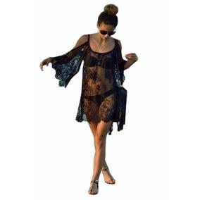 Vestido Para Playa Bluson Kaftan De Encaje Envio Gratis