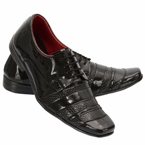 Sapato Social Verniz Masculino Khaata