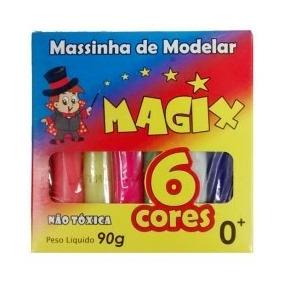 10 Unidades - Massinha De Modelar Massa Infantil 6 Cores